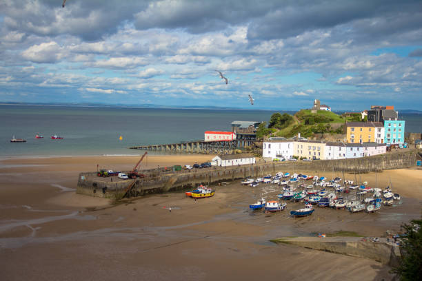 Tide out at Tenby