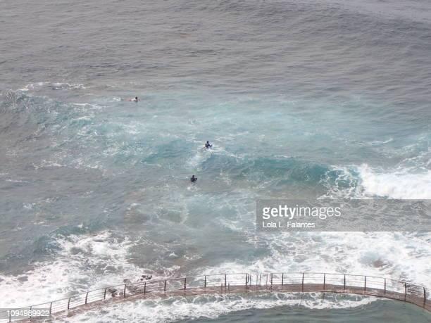 Tide pool and surf, Punta del Hidalgo, Tenerife