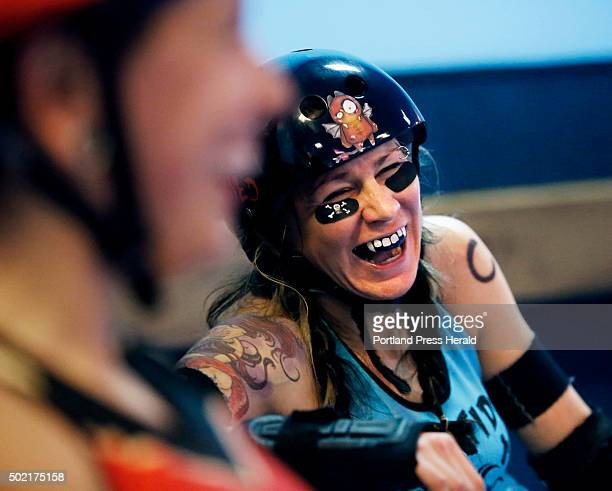 Tides and Calamity Janes compete in a roller derby bout at Happy Wheels in Portland on Saturday, December 19, 2015. Heather Tirado , aka Kirsten...