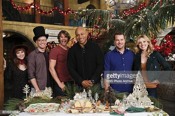 Tidings We Bring Pictured Behind the Scenes Renée Felice Smith Barrett Foa Eric Christian Olsen LL COOL J Chris O'Donnell and Bar Paly Sam partners...