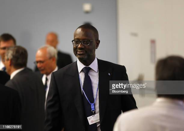 Tidjane Thiam chief executive officer of Credit Suisse Group AG arrives at an event at the University of Zurich in Zurich Switzerland on Friday Sept...