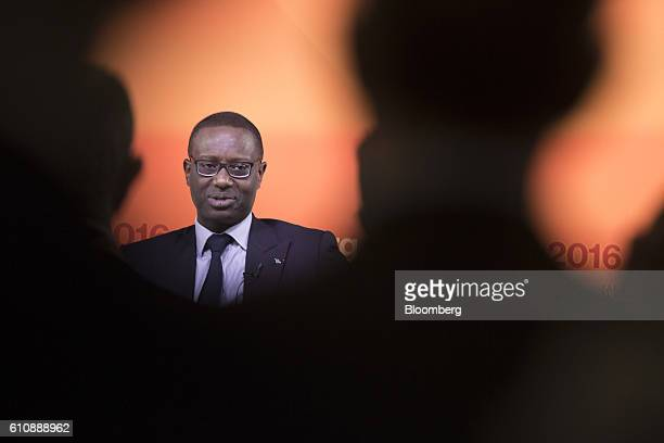 Tidjane Thiam chief executive officer of Credit Suisse Group AG speaks at the Bloomberg Markets Most Influential Summit in London UK on Wednesday...