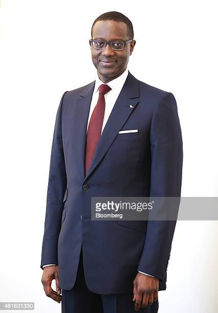 Tidjane Thiam chief executive officer of Credit Suisse Group AG poses for a photograph at the bank's headquarters in Zurich Switzerland on Thursday...