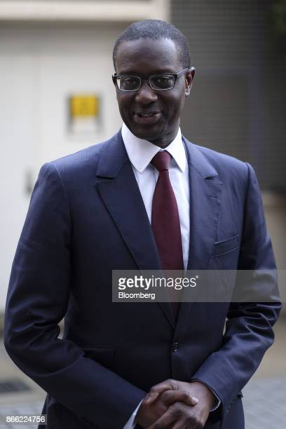 Tidjane Thiam chief executive officer of Prudential Plc poses for a photograph following a Bloomberg Television interview on the 'Leaders Lunch' show...