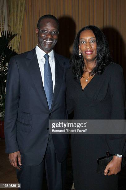 Tidjane Thiam President of the ABE and former politician Chief Executive of Prudential with his wife Anette at Cercle Interallie on October 5 2012 in...