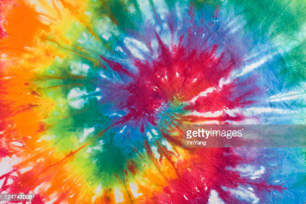 Tie Dye Fabric, 1960s, 1970s Psychedelic Hippie Style Textile Background