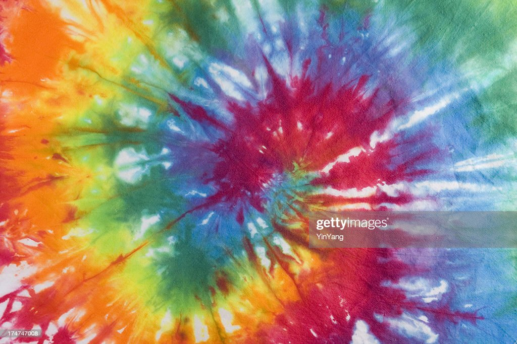 tie dye fabric 1960s 1970s psychedelic hippie style textile background