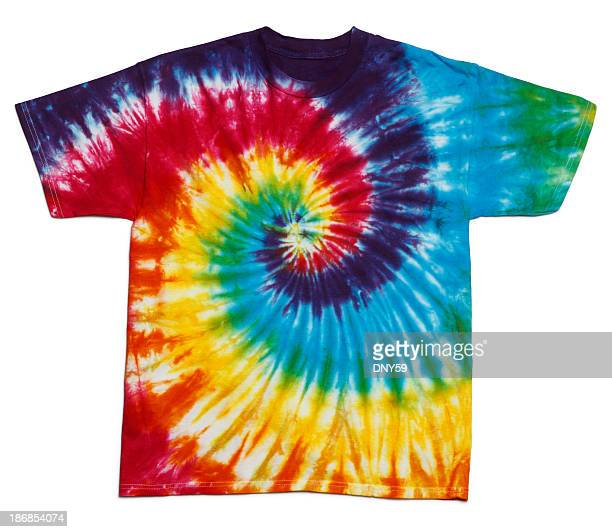 tie dye shirt - tie dye stock pictures, royalty-free photos & images