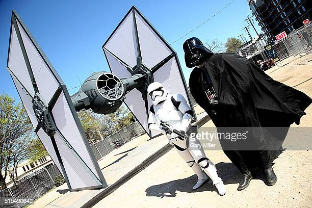 Tie Fighter on display during the SXSW FilmInteractiveMusic festival on March 13 2016 in Austin Texas