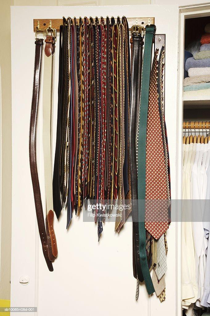 Tie rack : Foto stock