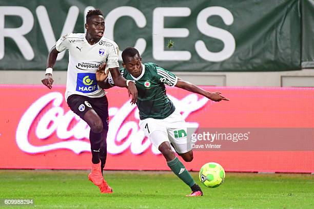 Tiecoro Keita of Red Star and Junior Sambia of Niort during the French Ligue 2 match between Red Star FC and Chamois Niortais Football Club at Stade...