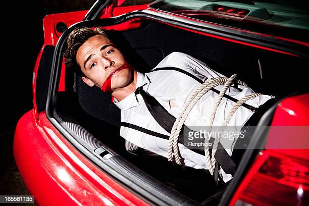 Tied and Gagged in a Car Trunk