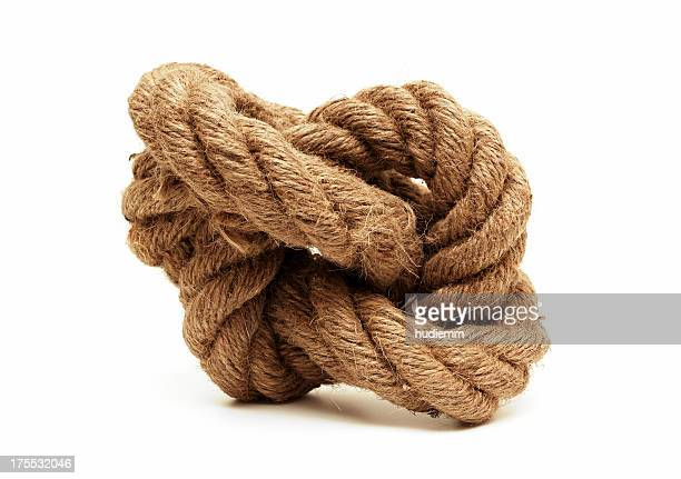 Tied Knot isolated on white background