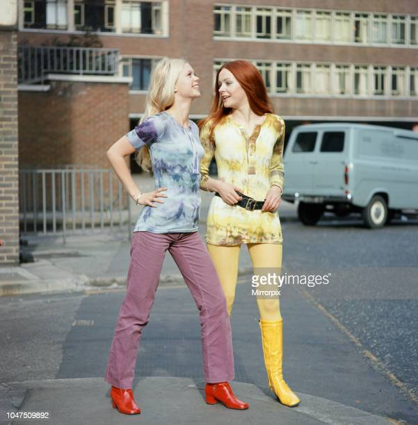 Tiedye shirts worn by models Jane and Linda 3rd March 1970