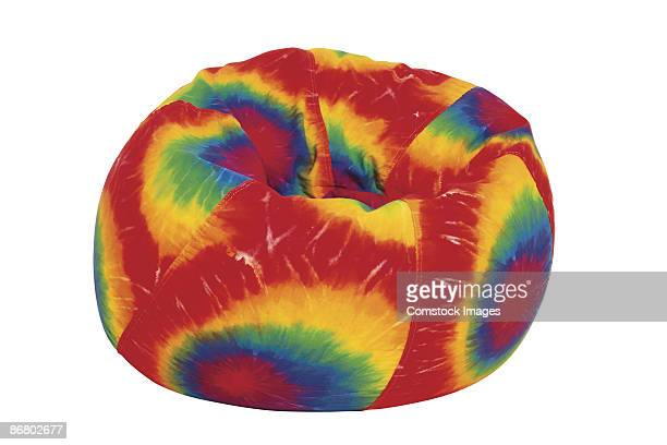 Tie-dyed beanbag chair