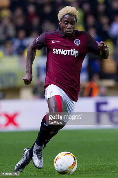 18 Tiemoko Konate of AC Sparta Prague during UEFA Europa League quarterfinals first leg match between Villarreal CF v Sparta Prague at El Madrigal...