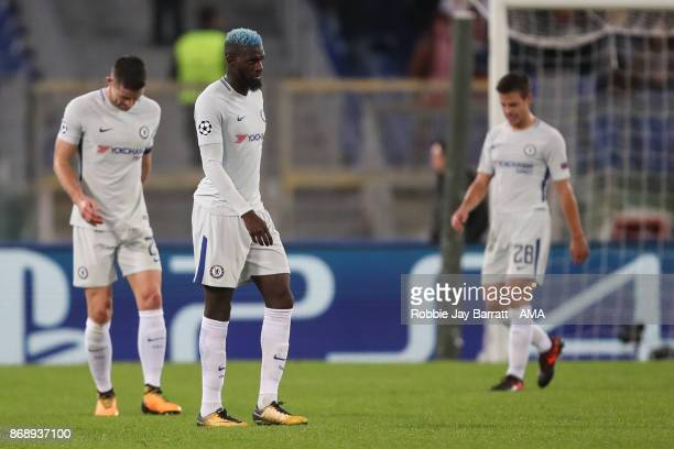 Tiemoué Bakayoko of Chelsea dejected during the UEFA Champions League group C match between AS Roma and Chelsea FC at Stadio Olimpico on October 31...