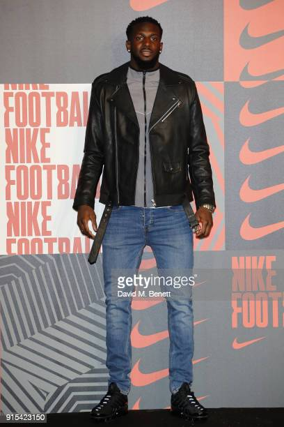 Tiemoue Bakayoko attends in celebration of the 20th anniversary of Nike's most iconic football boot some of the world's best footballers arrive in...