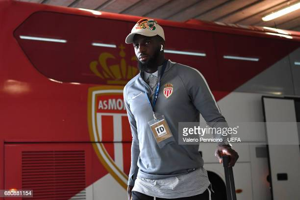 Tiemoue Bakayoko of AS Monaco FC walks to the dressing room prior to the UEFA Champions League Semi Final second leg match between Juventus and AS...