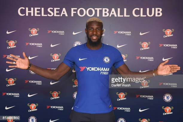 Tiemoue Bakayoko of Chelsea after signing his 5 year contract for Chelsea at Chelsea Training Ground on July 15 2017 in Cobham England
