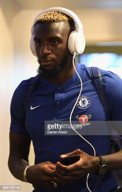 Tiemoue Bakayoko of Chelsea arrives at the stadium prior to the Premier League match between Chelsea and Everton at Stamford Bridge on August 27 2017...