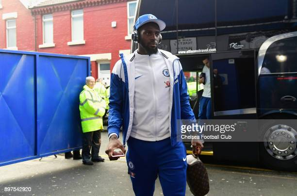 Tiemoue Bakayoko of Chelsea arrives at the stadium prior to the Premier League match between Everton and Chelsea at Goodison Park on December 23 2017...