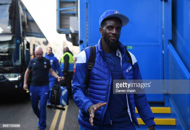 Tiemoue Bakayoko of Chelsea arrives for the Premier League match between Chelsea and Stoke City at Stamford Bridge on December 30 2017 in London...