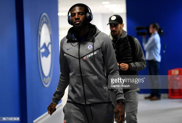 Tiemoue Bakayoko of Chelsea arrives prior to the Premier League match between Brighton and Hove Albion and Chelsea at Amex Stadium on January 20 2018...