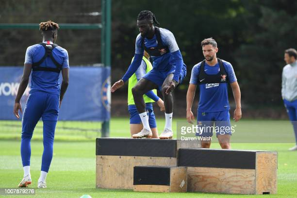 Tiemoue Bakayoko of Chelsea during a training session at Chelsea Training Ground on July 30 2018 in Cobham England