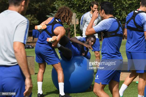 Tiemoue Bakayoko of Chelsea during a training session at Chelsea Training Ground on July 10 2018 in Cobham England