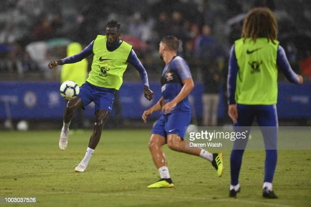Tiemoue Bakayoko of Chelsea during an open training session at the Waca on July 21 2018 in Perth Australia