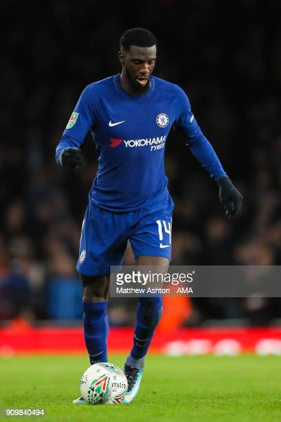 Tiemoue Bakayoko of Chelsea during the Carabao Cup SemiFinal Second Leg match between Arsenal and Chelsea at The Emirates Stadium on January 24 2018...