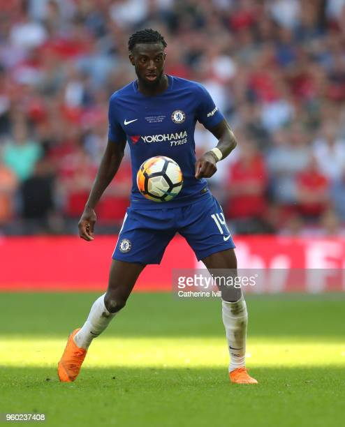 Tiemoue Bakayoko of Chelsea during The Emirates FA Cup Final between Chelsea and Manchester United at Wembley Stadium on May 19 2018 in London England