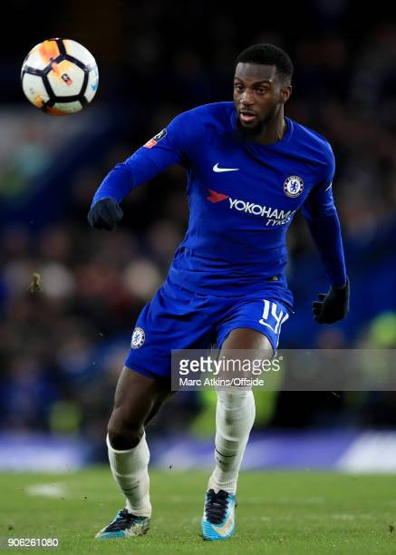 Tiemoue Bakayoko of Chelsea during the Emirates FA Cup Third Round Replay match between Chelsea and Norwich City at Stamford Bridge on January 17...