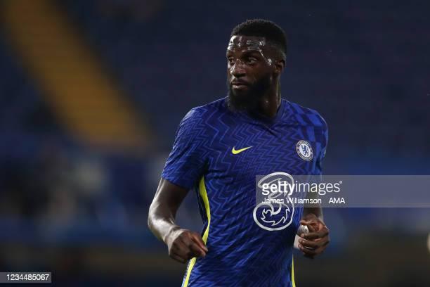Tiemoue Bakayoko of Chelsea during the pre season friendly between Chelsea and Tottenham Hotspur at Stamford Bridge on August 4, 2021 in London,...
