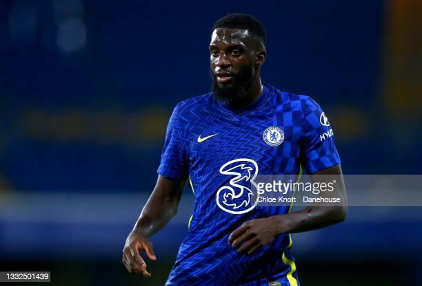 Tiemoue Bakayoko of Chelsea during the Pre Season Friendly between Chelsea and Tottenham Hotspur at Stamford Bridge on August 04, 2021 in London,...