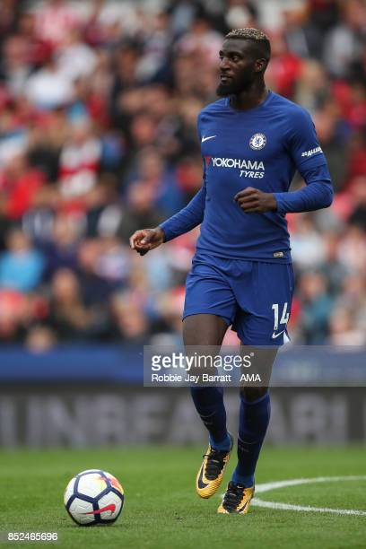 Tiemoue Bakayoko of Chelsea during the Premier League match between Stoke City and Chelsea at Bet365 Stadium on September 23 2017 in Stoke on Trent...