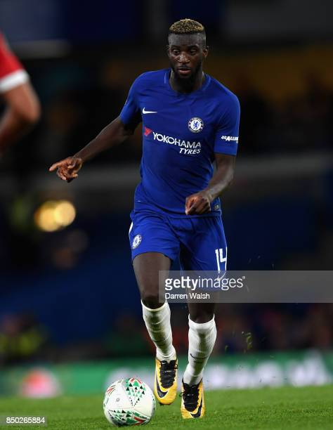Tiemoue Bakayoko of Chelsea in action during the Carabao Cup Third Round match between Chelsea and Nottingham Forest at Stamford Bridge on September...