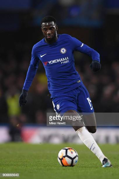 Tiemoue Bakayoko of Chelsea in action during The Emirates FA Cup Third Round Replay between Chelsea and Norwich City at Stamford Bridge on January 17...