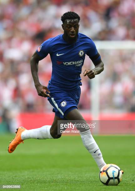 Tiemoue Bakayoko of Chelsea in action during The Emirates FA Cup Semi Final match between Chelsea and Southampton at Wembley Stadium on April 22 2018...