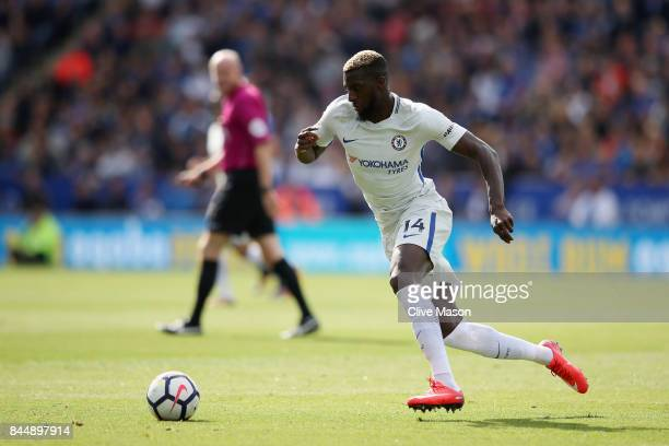Tiemoue Bakayoko of Chelsea in action during the Premier League match between Leicester City and Chelsea at The King Power Stadium on September 9...