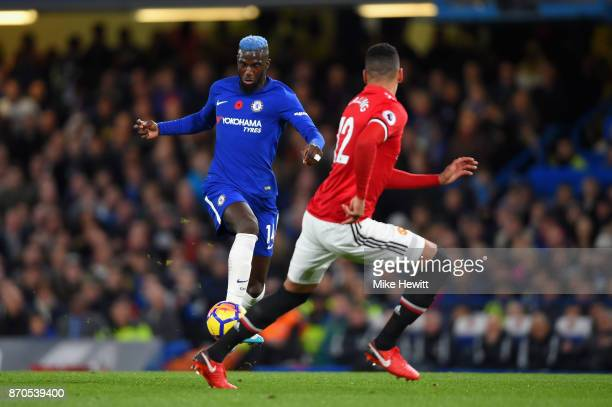 Tiemoue Bakayoko of Chelsea in action during the Premier League match between Chelsea and Manchester United at Stamford Bridge on November 5 2017 in...