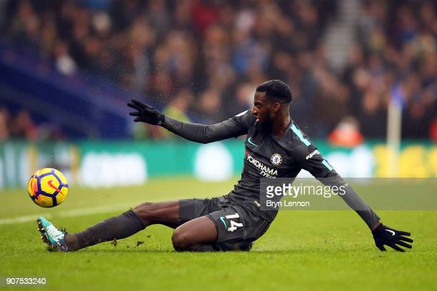 Tiemoue Bakayoko of Chelsea in action during the Premier League match between Brighton and Hove Albion and Chelsea at Amex Stadium on January 20 2018...