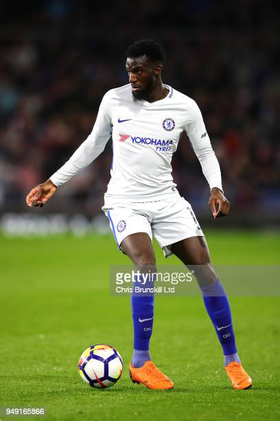Tiemoue Bakayoko of Chelsea in action during the Premier League match between Burnley and Chelsea at Turf Moor on April 19 2018 in Burnley England