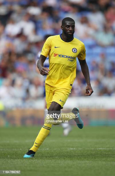 Tiemoue Bakayoko of Chelsea in action during the Pre-Season Friendly match between Reading and Chelsea at Madejski Stadium on July 28, 2019 in...
