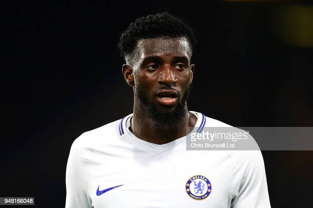 Tiemoue Bakayoko of Chelsea looks on during the Premier League match between Burnley and Chelsea at Turf Moor on April 19 2018 in Burnley England