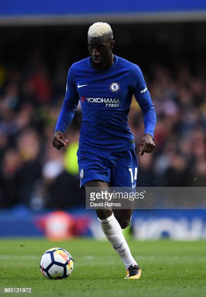 Tiemoue Bakayoko of Chelsea runs with the ball during the Premier League match between Chelsea and Watford at Stamford Bridge on October 21 2017 in...