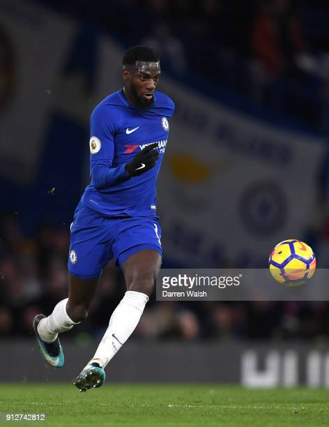 Tiemoue Bakayoko of Chelsea runs with the ball during the Premier League match between Chelsea and AFC Bournemouth at Stamford Bridge on January 31...