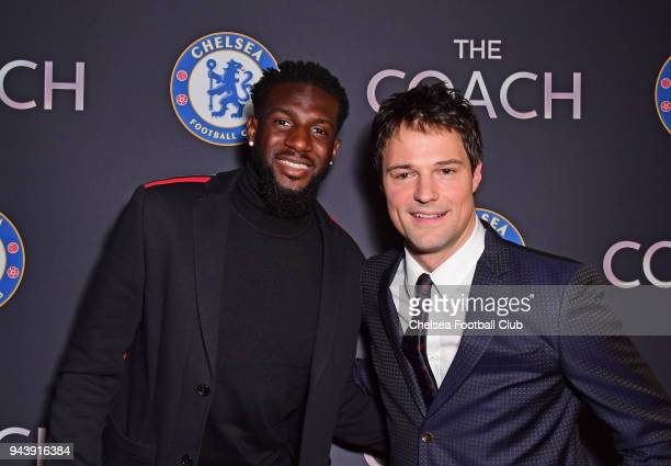 Tiemoue Bakayoko of Chelsea with Director Danila Kozlovsky attend 'The Coach' Premiere shown at Under The Bridge at Stamford Bridge on April 9 2018...
