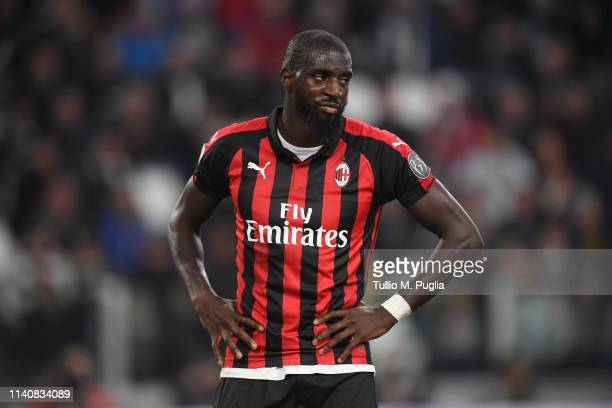 Tiemoue Bakayoko of Milan shows his dejection during the Serie A match between Juventus and AC Milan on April 06 2019 in Turin Italy